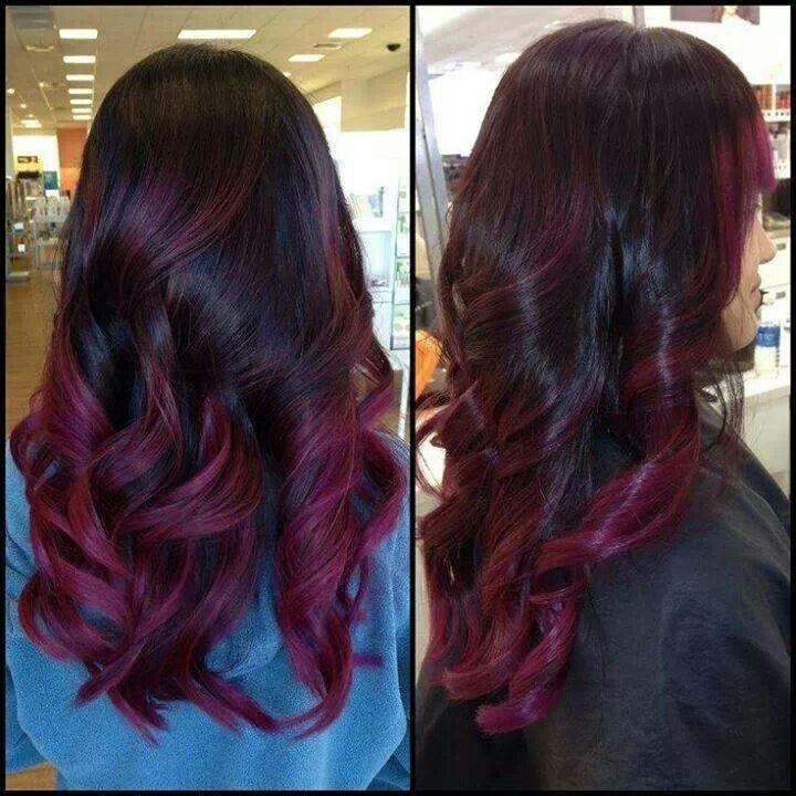 aubergine haarkleur